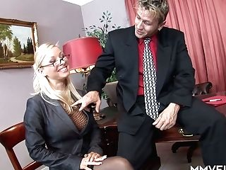 Hungarian Blonde Office Tramp Helena Sweet Gets Analfucked After Meeting