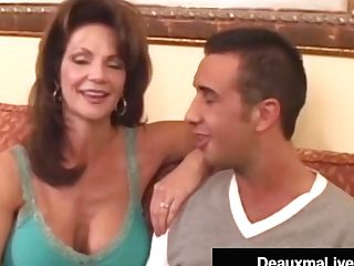 Hot Horny Cougar Deauxma Bangs Rookie Big Dick Keiran Lee!