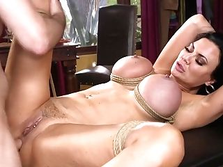 Robber In Mask Fucks Tied Up Black-haired Honey With Ample Cupcakes Jasmine Jae