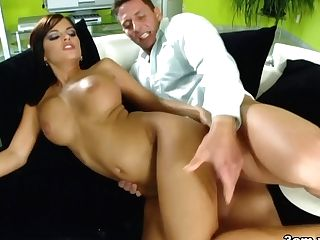 Angelica Black Crams A Humungous Pecker In Her Mouth - 3amxxx