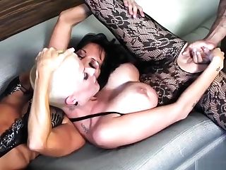 Two Supah Hot Big Tits Mummies Fucked By Two Big Black Cock
