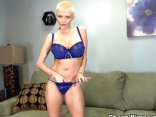 Horny Pornographic Star Joslyn James In Amazing Onanism, Blonde Adult Movie
