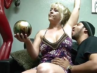 Round Blonde Woman With Tattoos And Hairy Slit Likes To Have Gonzo Romp With Various Guys
