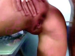 Dark Haired Teenage With Ponytails Brutal Rump Fuck Backdoor Sex