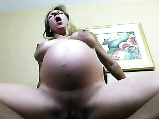 Gross Preggie Blonde Haired Whore Rails And Inhales Massive Black Man Meat