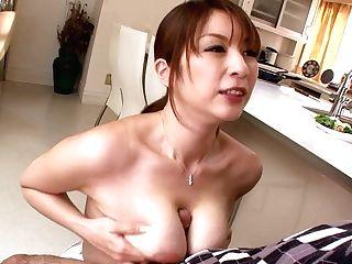 Bosomy Japanese Araki Hitomi Gives Blow-job And Tit Fuck