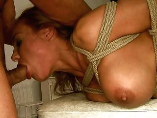 Voluptuous Blonde Mommy Is Mouth Fucked Hard In Dirty Domination & Submission Pornography Clip