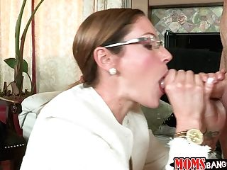 Nubile Ava Hardy Is Instructed How To Give A Solid Blow-job