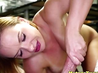 Huge-boobed Stepmilf Jerking Point Of View Weenie