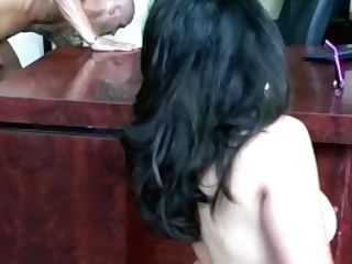 Huge-titted Stunner Jessica Bangkok Is Getting Drilled In The Office