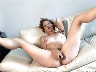 Amazing Pornographic Star In Exotic Fuck Sticks/fucktoys, Getting Off Porno Scene