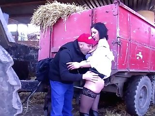German Cougar Inspector Picks On The Farmer