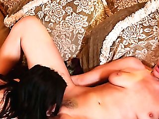 Attractive Lusty Nymphomaniac Dana Dearmond Is So Into Pleasing Lesbo's Moist Twat