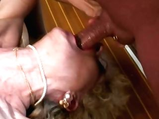 Pierced Labia Dutch Blonde Granny Fuck
